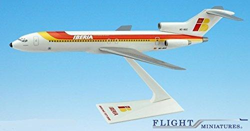 Iberia 727-200 Airplane Miniature Model Plastic Snap Fit 1200 Part ABO-72720H-030