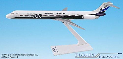 McDonnell Douglas Demo MD-80 Airplane Miniature Model Plastic Snap Fit 1200 Part AMD-08000H-002