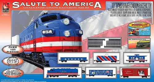Life-Like Trains HO Scale Salute To America Electric Train Set