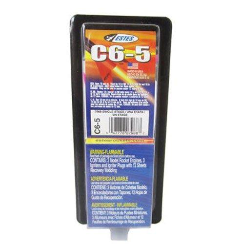 Estes 7968-1 C6-5 Flight Pack Model Rocket Motor