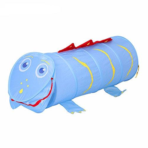 Mallya 5-Feet Sports Blue Dinosaur Themed Childrens Exploration Pop-Up Play Tunnel