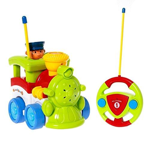 Midea Tech Cartoon RC Train Car Car Radio Control Toy for Toddlers