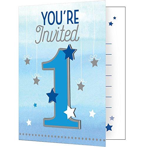 One Little Star Boy Invitations 8ct