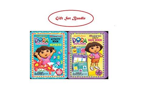 Dora the Explorer Number and Game Magnetic Tin Gift Set Bundle