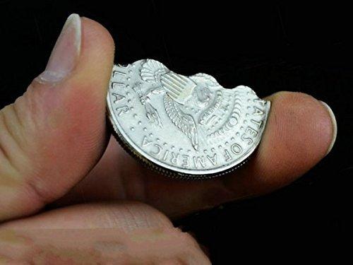 Bite Coin Half Dollar Magic Trick Toys Magic Props Fantastic Illusion Coin Magic Trick for Stage Magician-style Random
