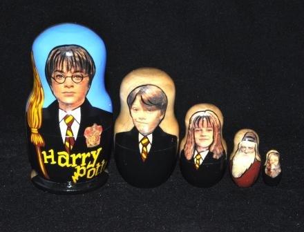 Harry Potter 5 pcs Russian Matryoshka Nesting Doll