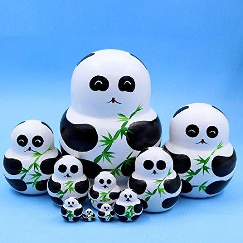 King&Light 10pcs Russian Nesting Dolls Matryoshka toys Adorkable Panda