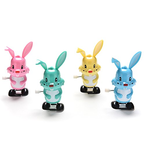 JETTINGBUY 1 Pcs Rabbit Color Somersault Walking Clockwork Toys