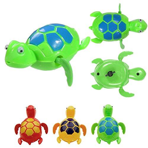 Random Color 2016 Cute Animals Tortoise Wind Up Baby Bath Bathing Swim Clockwork Toy Diver Plastic Turtle Toys for Kids Gift