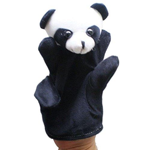 Fullkang Cute Big Size Animal Glove Puppet Hand Dolls Plush Toy Baby Child Zoo Farm Animal Hand Glove Puppet Finger Sack Plush Toy Finger Puppets Panda