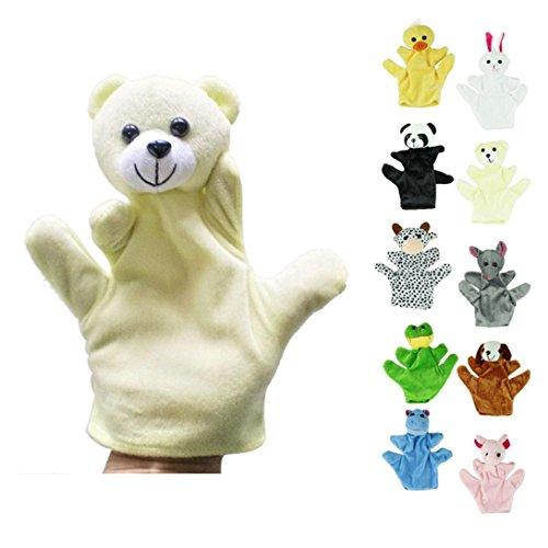 Gotd Baby Child Bear Zoo Farm Animal Hand Glove Puppet Finger Sack Plush Toy