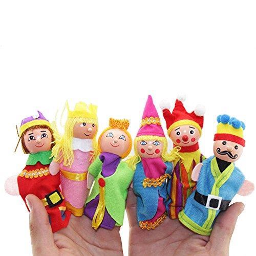 King Queen Finger Puppets Set Doinshop 6Pcs Story Telling Puppets for Kids