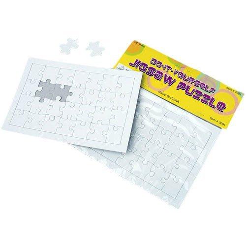 Dozen Blank DIY Paper Jigsaw Puzzles