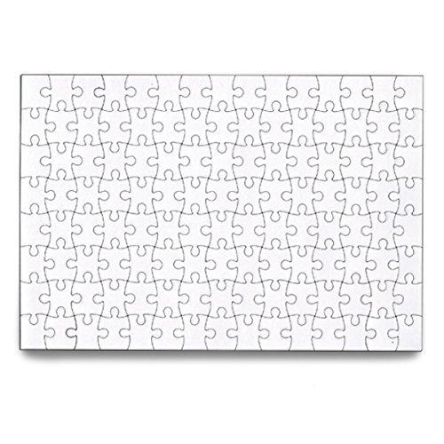 SanShun Blank Puzzle Jigsaw Puzzle 120 Pieces 6-Pack