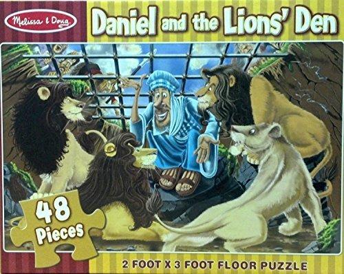 Daniel and The Lions Den 48-Piece Floor Puzzle  FREE Melissa Doug Scratch Art Mini-Pad Bundle 44967