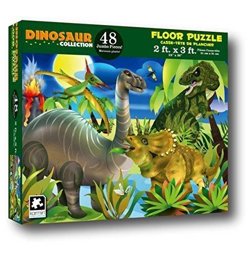 Dinosaur Collection 48 Piece Floor Puzzle Measures 2ft x 3ft