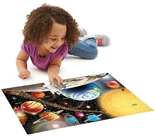 Solar System 48-Piece Floor Puzzle  FREE Melissa Doug Scratch Art Mini-Pad Bundle 04138