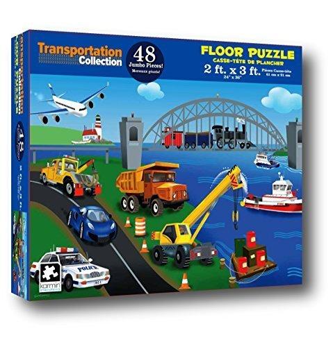 Transportation Collection 48 Piece Floor Puzzle measures 2ft x 3ft