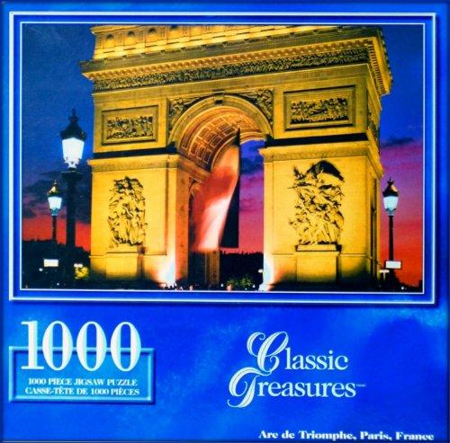 Classic Treasures 1000-Piece Large Jigsaw Puzzle - Arc de Triomphe Paris France by LS