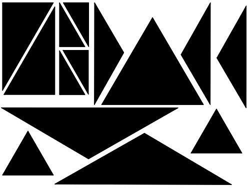 Triangle Puzzle - Black