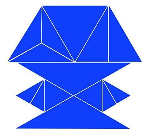 Triangle Puzzle - Blue