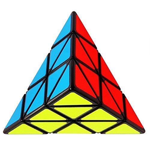 TuTu Triangle Pyramid Pyraminx Magic Cube Speed Puzzle Twist Toy Game Education Black Edge