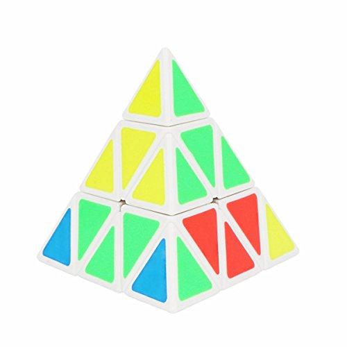 Xben 3x3 Pyraminx Triangle Speed Magic Cube Puzzle Twist Toy Game Education White