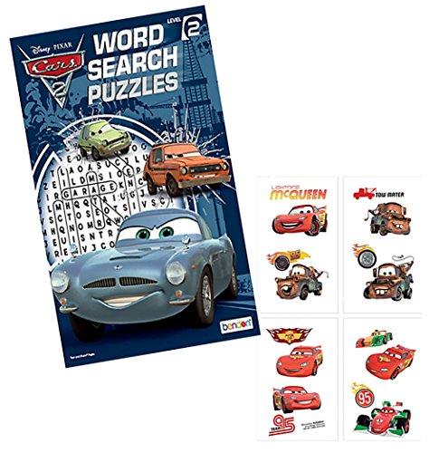 Disney Pixar Cars Word Search Puzzles Activity Book Plus Bonus Cars Temporary Tattoos Featuring Lightning McQueen