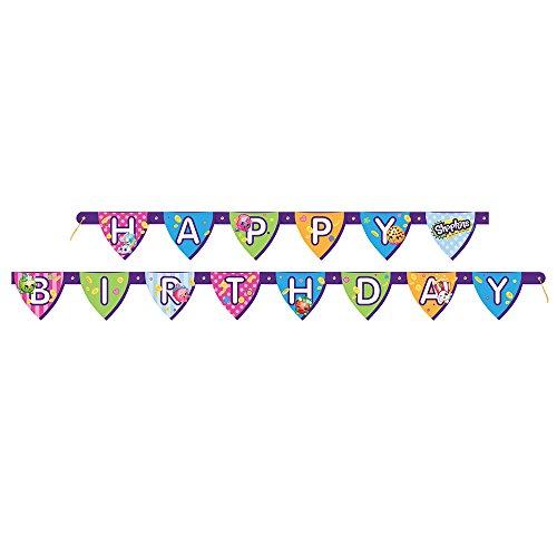 6ft Shopkins Birthday Banner
