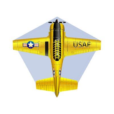 X-Kites Mini Microlite Airplane Finger Kite - Yellow