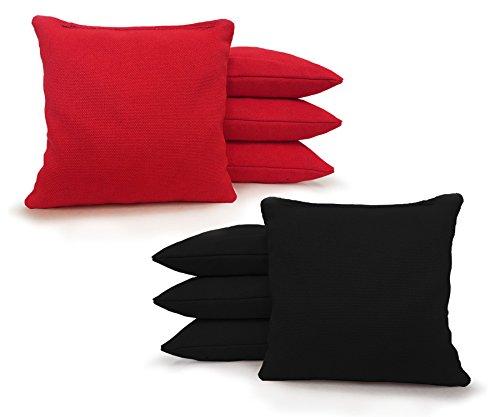 Regulation Cornhole Bags 17 COLORS Handmade Top Quality Set Of 8 Free Shipping Johnson Enterprise LLC RedBlack