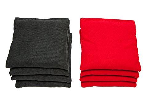 Regulation Cornhole Bags Set of 8 By SC Cornhole RedBlack