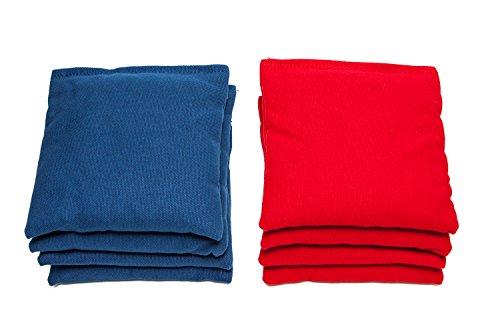 Weather Resistant Cornhole Bags Set of 8 by SC Cornhole RedRoyal Blue