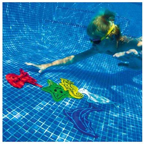 Kids Swimming Pool Diving Game Floating Aids Aqua Fun Marine Mates Toys Set Of 5