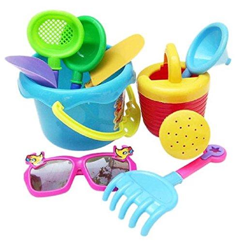 Kids Developmental and Educational Toys DaySeventh 9Pcs Sand Sandbeach Kids Children Beach Toys Castle Bucket Spade Shovel Rake Water Tools