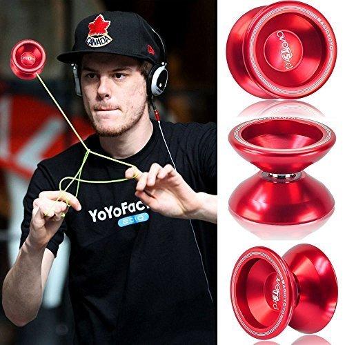 Red Fashion Magic YoYo T5 Overlord Aluminum Professional Yo-Yo Kids Toys String