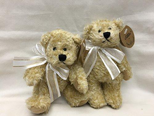 Teddy Bear Plush Small Toy Miniature 55 Inch Tall 2 Pcsset