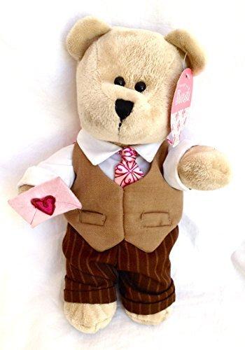 Starbucks 2007 Bearista 10 Plush Valentines Day Boy Bear