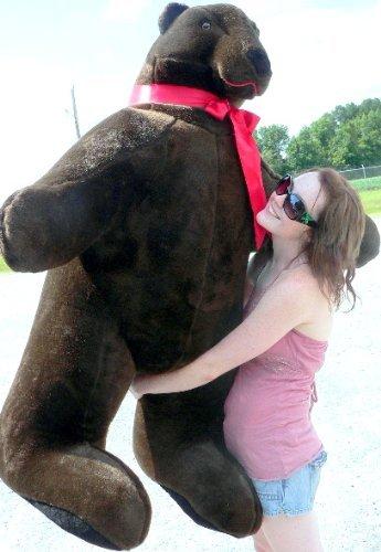 American Made Giant Stuffed Brown Bear 5 Feet Tall 3 Feet Wide Soft Made in USA
