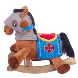 Personalized Knights Horseback Plush Rocker- Engraving