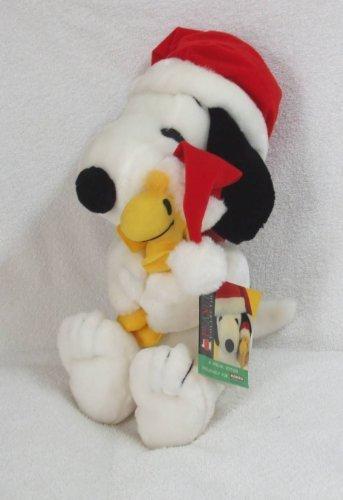 RARE Peanuts Plush 17 Christmas Holiday Snoopy Hugging Woodstock Doll from Kohls