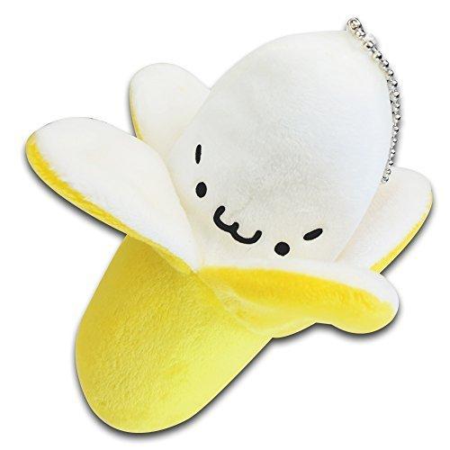 5 Yellow Banana Fruit Stuffed Animal Soft Plush Toy Keychain New Cute by Idragoninc