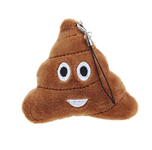Anboo Poo Face Emoji Smiley Emoticon Bag Accessory Cushion Stuffed Plush Toy Doll KeyChain