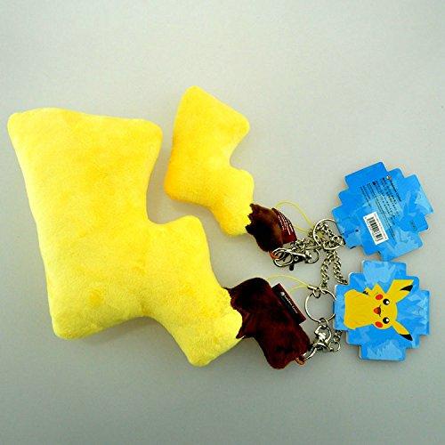 Anime Pokemon Pikachu Lightning Tail Plush Toys Keychain Pendant Dolls