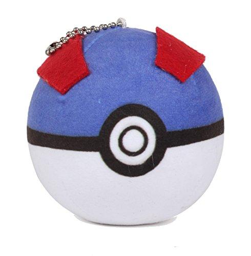 MK Pokemon Go PokeBall Soft Plush Toy Keychain