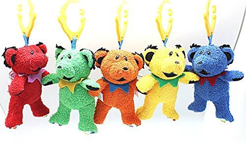 Grateful Dead Dancing Bear Hanging Interactive Plush Toy Orange