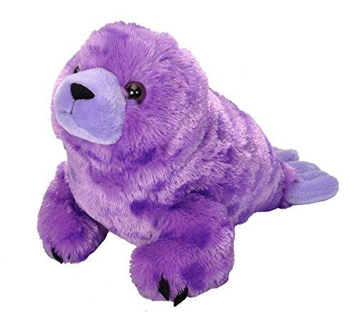 Wild Republic Cuddlekins Vibes Purple Harbor Seal Plush
