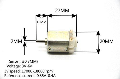 J-Cloud 4-PACK 6V 130 DC 17000-18000 RPM Toy Motors DIY Small RC Car Motor