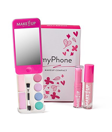 Girls Makeup Palette with Mirror - Super Chic iPhone Compact - SAFETY TESTED - NON TOXIC