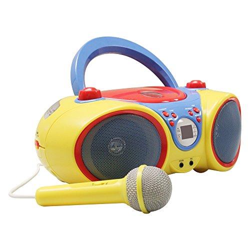Hamilton Buhl Kids Audio CD Player Karaoke Machine with Microphone
